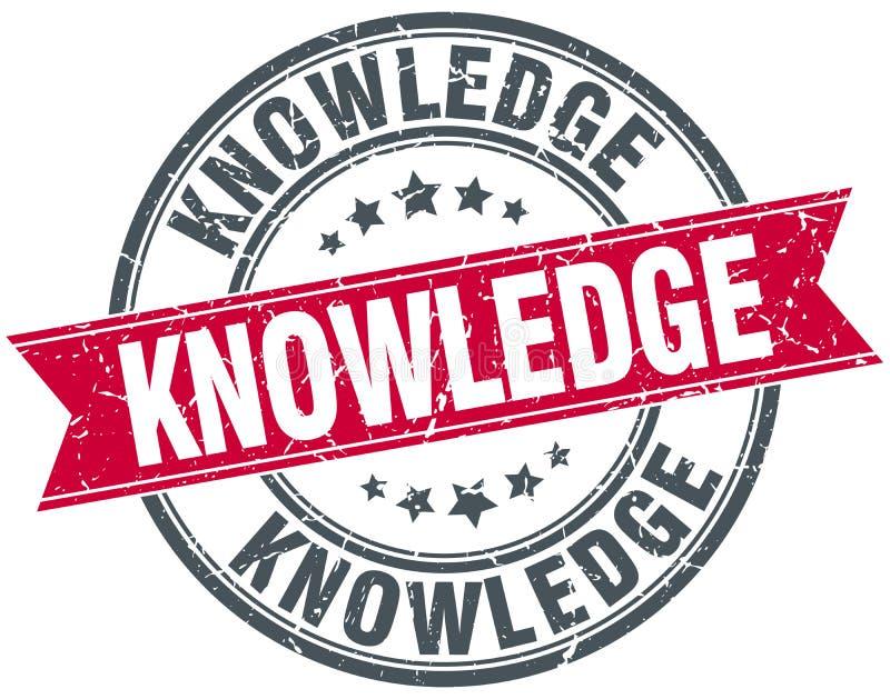 Sello del conocimiento stock de ilustración