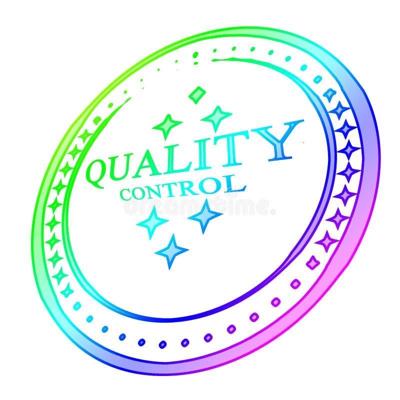 Sello del control de calidad stock de ilustración