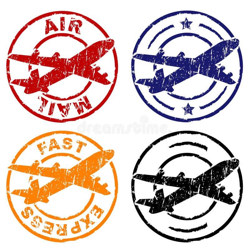 Sello del correo aéreo stock de ilustración