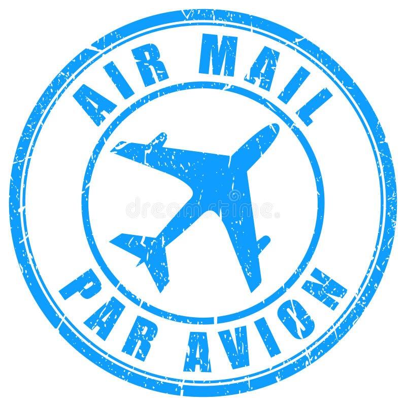 Sello del correo aéreo libre illustration