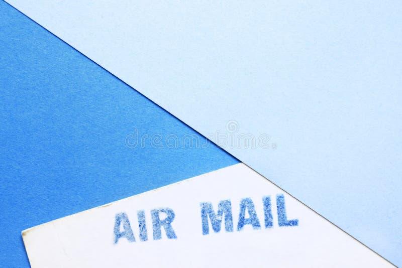 Sello del correo a?reo fotos de archivo