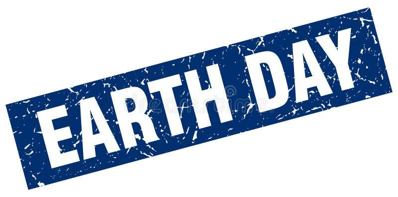 Sello del Día de la Tierra ilustración del vector
