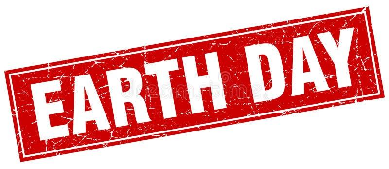 Sello del Día de la Tierra stock de ilustración