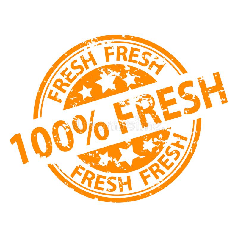 Sello del sello de goma - el 100% fresco libre illustration