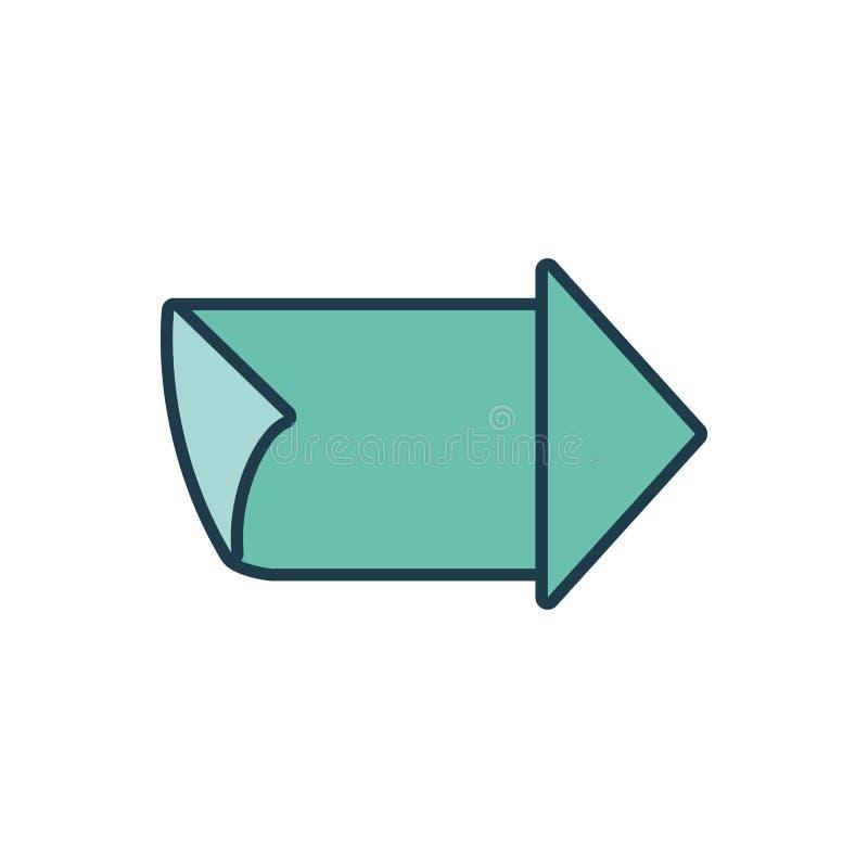 Sello del sello de la guía de la flecha ilustración del vector
