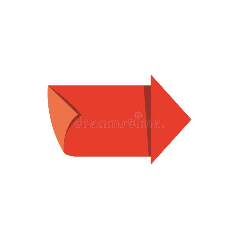 Sello del sello de la guía de la flecha stock de ilustración