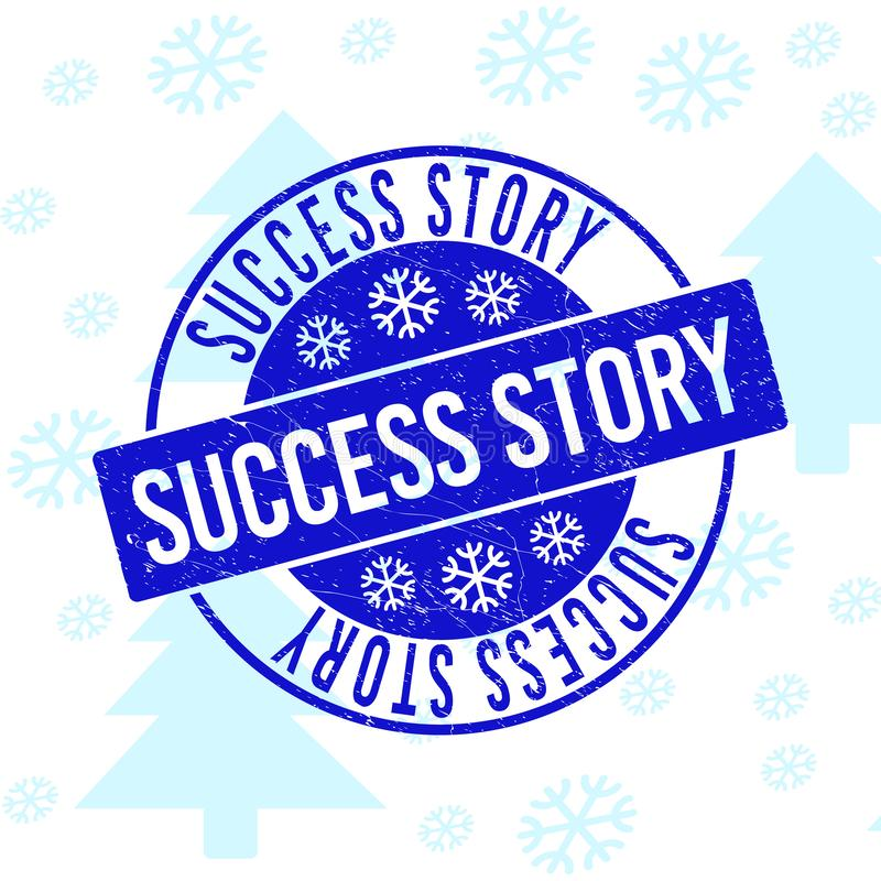 Sello del sello de la ronda del Grunge del caso de éxito para la Navidad libre illustration
