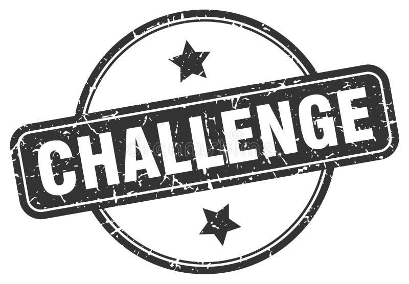 Sello del desaf?o ilustración del vector