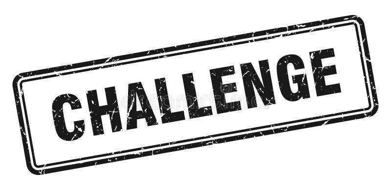 Sello del desaf?o stock de ilustración