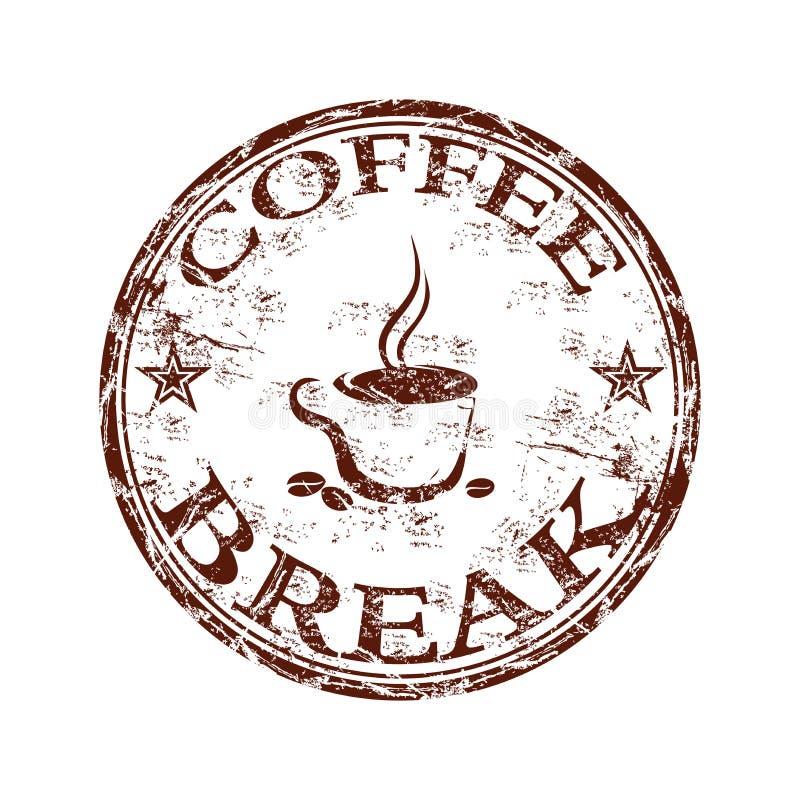 Sello del descanso para tomar café stock de ilustración