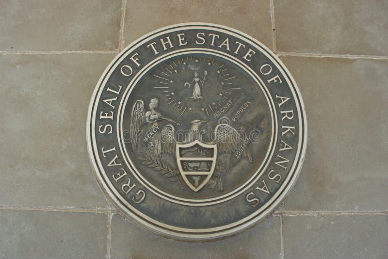 Sello del estado de Arkansas imagenes de archivo