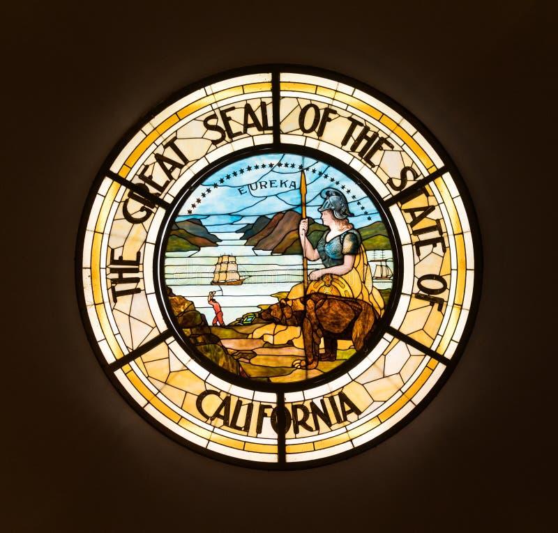 Sello del estado de California fotografía de archivo libre de regalías
