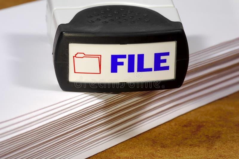 Sello del fichero fotografía de archivo libre de regalías