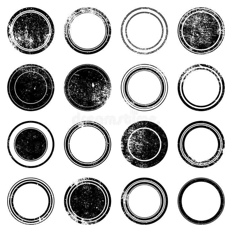 Sello del Grunge de Ronded stock de ilustración