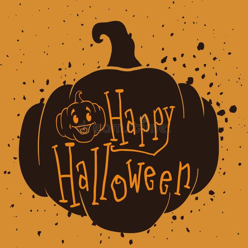 Sello del Grunge del feliz Halloween ilustración del vector