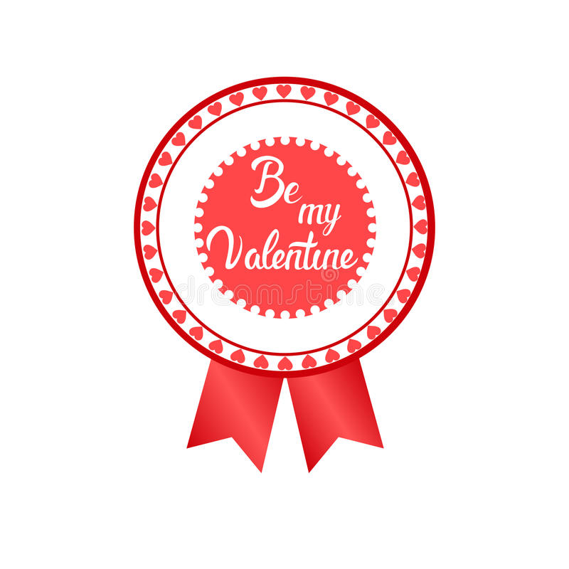 Sello del icono del amor de Valentine Day Gift Card Holiday stock de ilustración