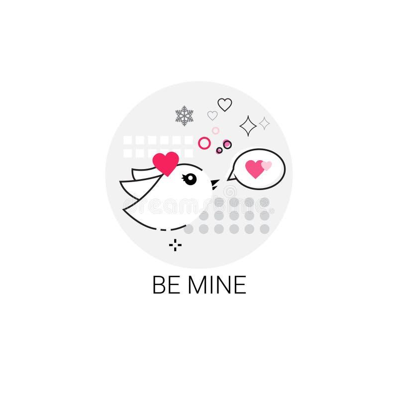 Sello del icono del amor de Valentine Day Gift Card Holiday libre illustration