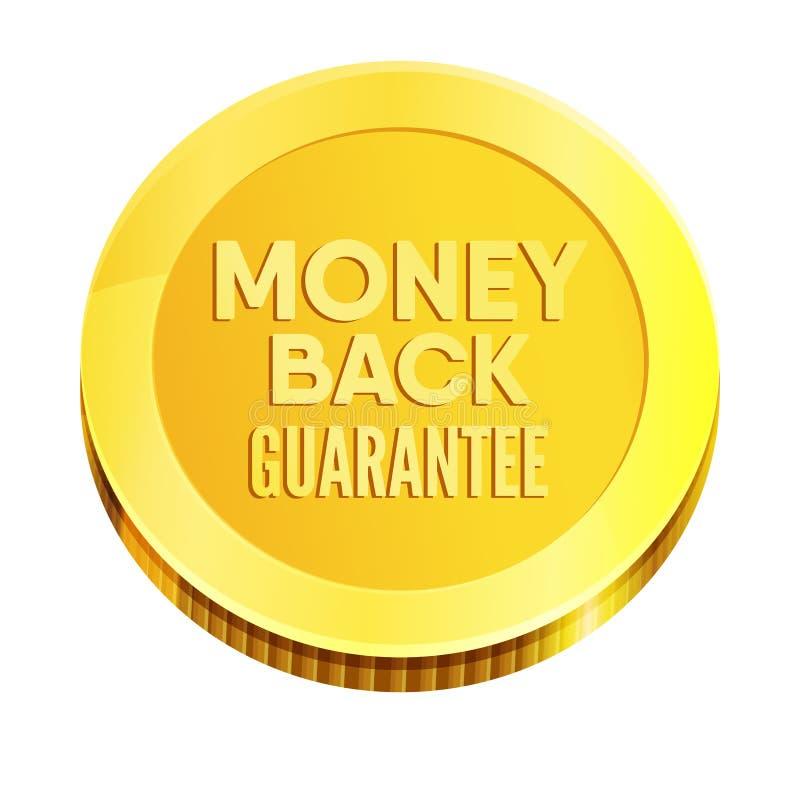 Sello del negocio de la garantía del reembolso del dinero stock de ilustración