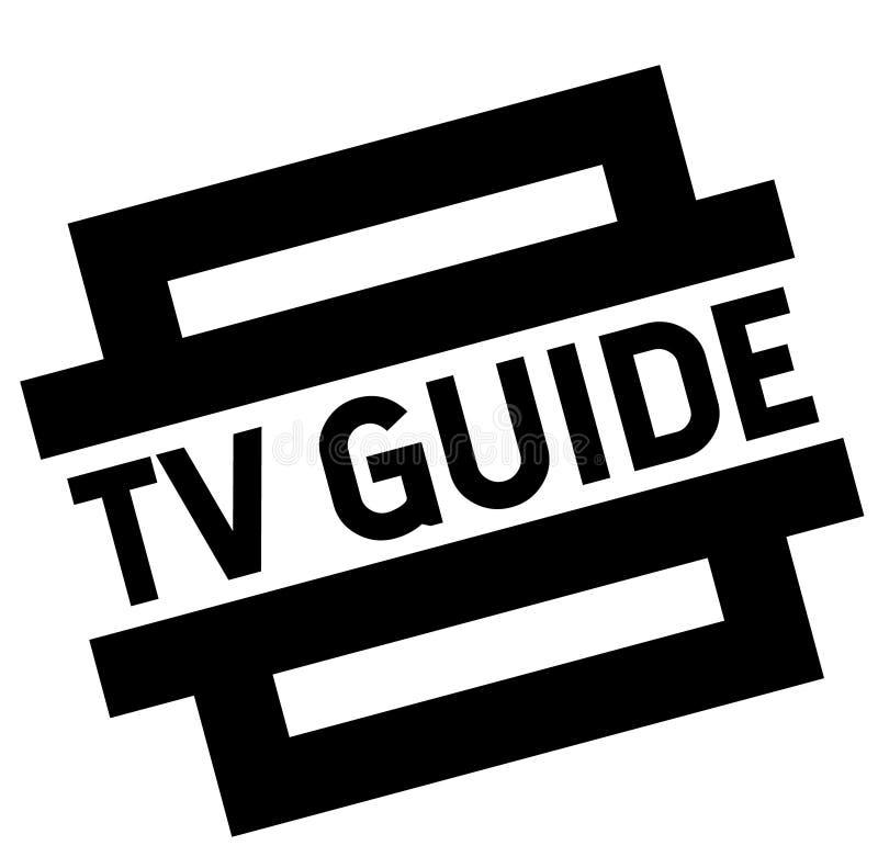 Sello del negro de la guía de la TV stock de ilustración