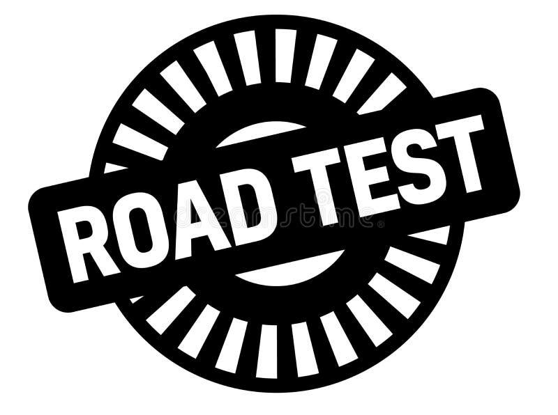 Sello del negro de la prueba en carretera ilustración del vector