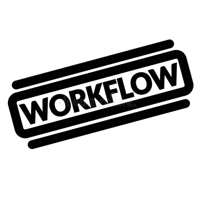 Sello del negro del flujo de trabajo libre illustration