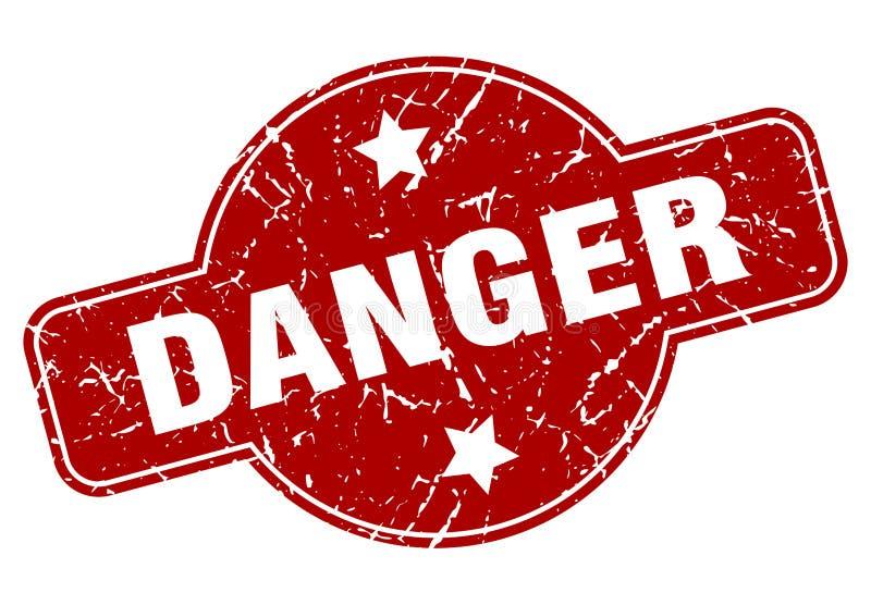Sello del peligro stock de ilustración