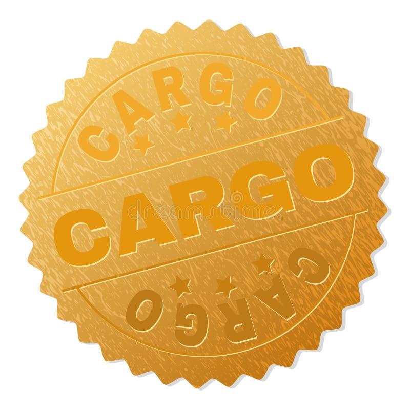 Sello del premio del CARGO del oro libre illustration