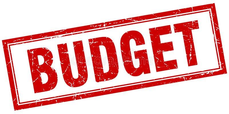 Sello del presupuesto stock de ilustración
