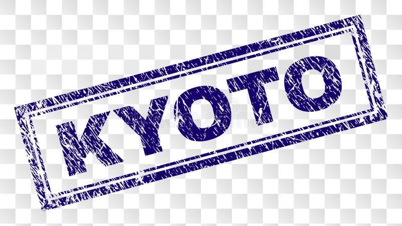 Sello del rectángulo de KYOTO del Grunge libre illustration