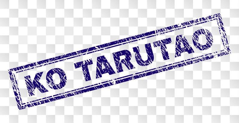 Sello del rectángulo del knock-out TARUTAO del Grunge stock de ilustración