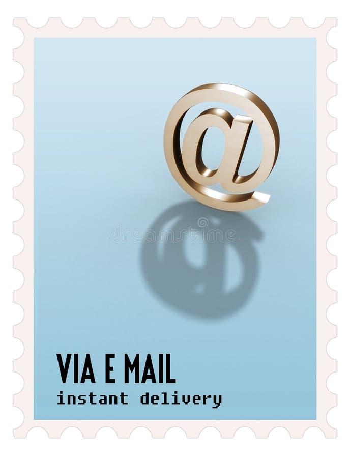 sello del símbolo del correo imagen de archivo