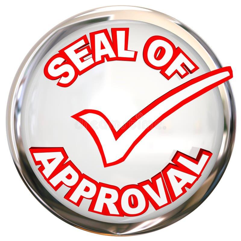 Sello del sello de la etiqueta del endoso del control de calidad de la aprobación libre illustration