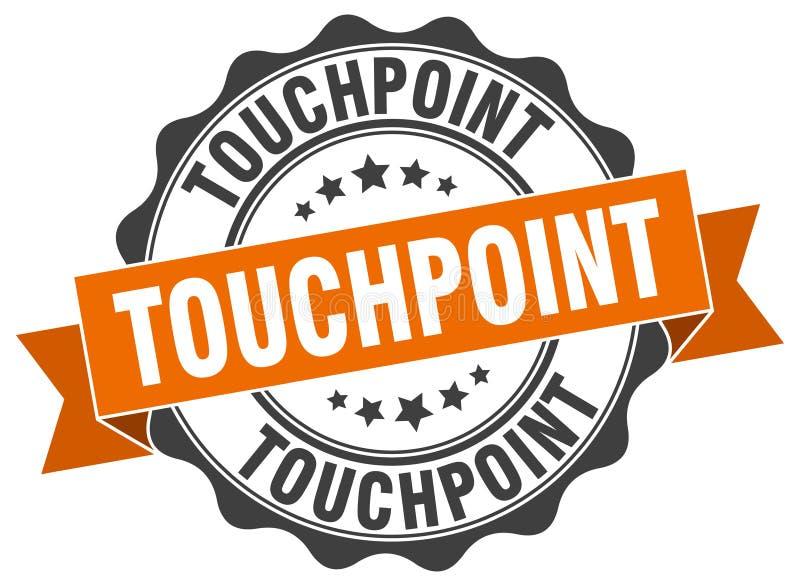 sello del touchpoint sello stock de ilustración