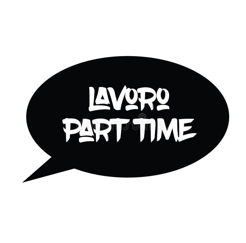 Sello del trabajo a tiempo parcial en italiano ilustración del vector