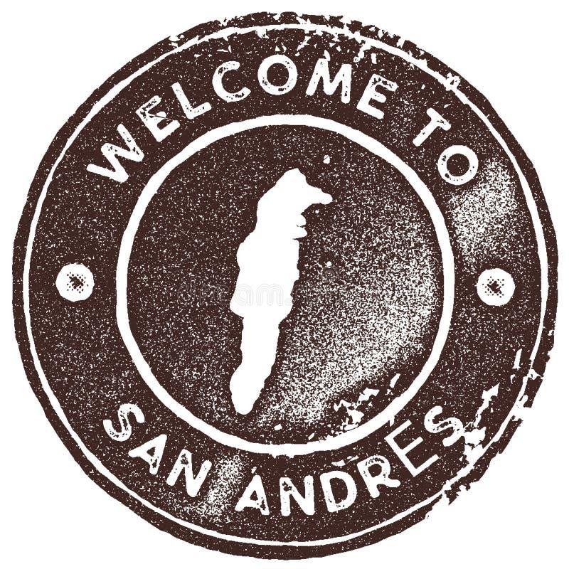 Sello del vintage del mapa de San Andres libre illustration