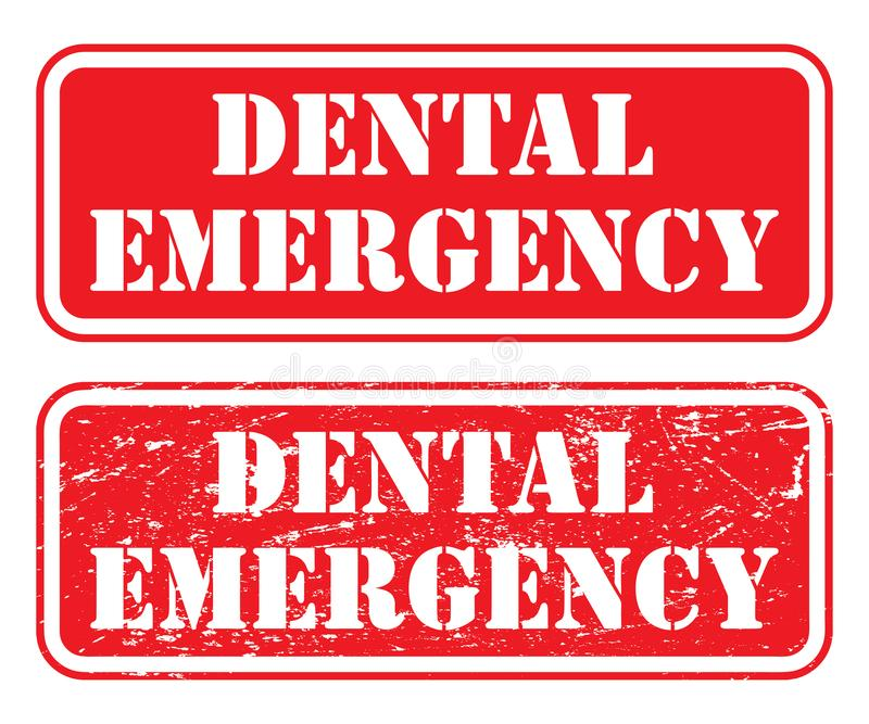 Sello dental de la emergencia libre illustration