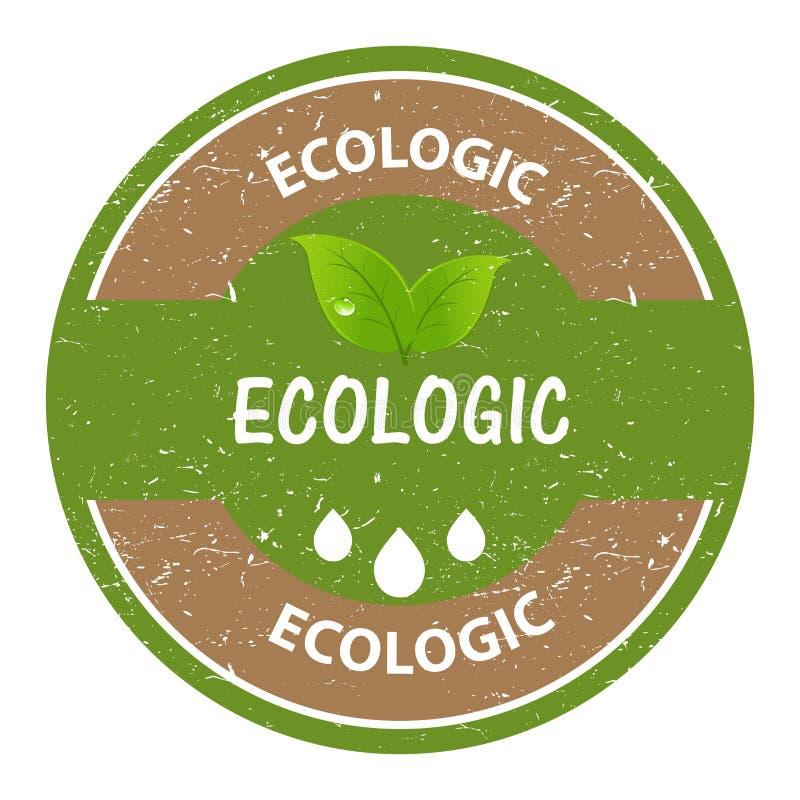Sello ecológico stock de ilustración