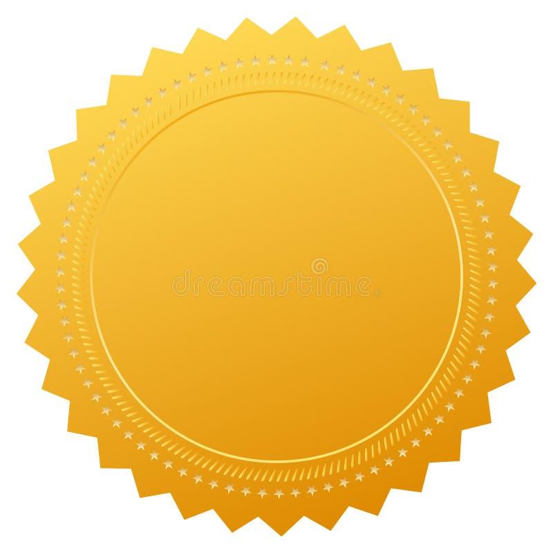 Sello en blanco del certificado de la garantía ilustración del vector