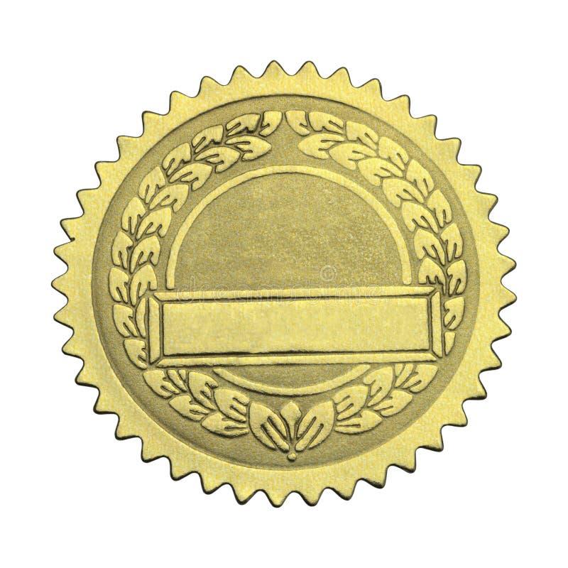 Sello en blanco del graduado del oro foto de archivo