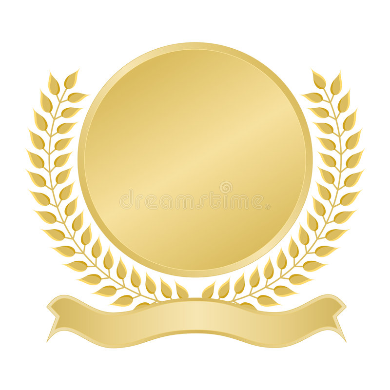Sello en blanco del oro libre illustration