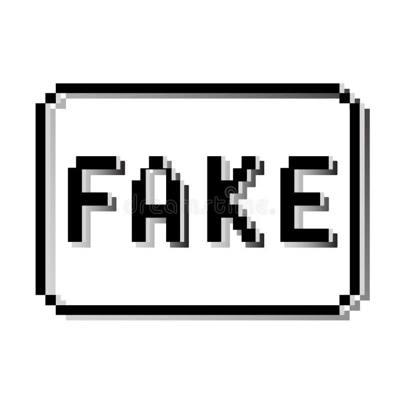 Sello falso del pixel Viejo mensaje de texto del diseño de videojuego libre illustration