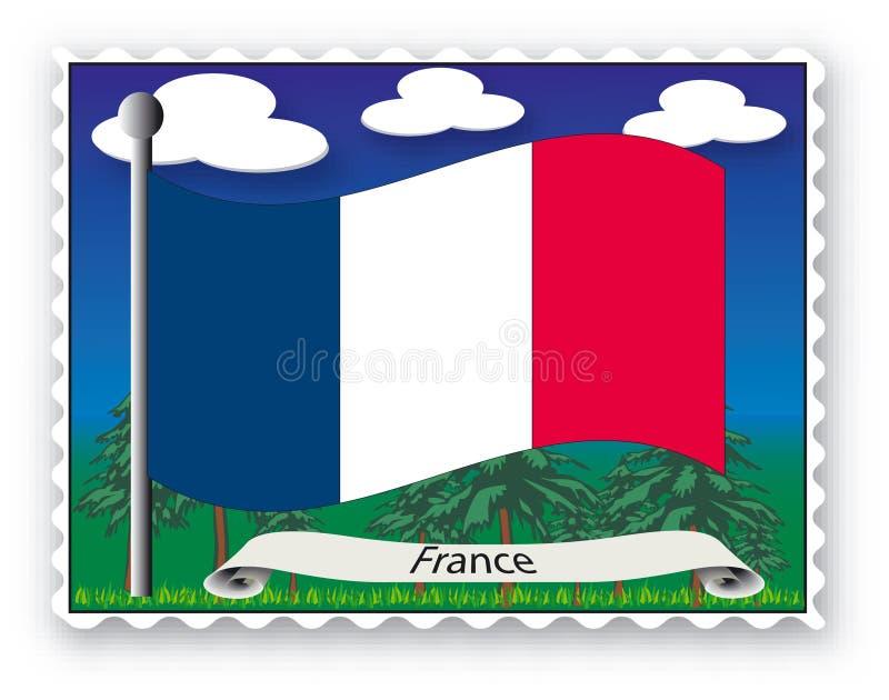Sello Francia stock de ilustración