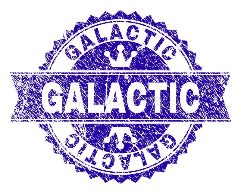 Sello GALÁCTICO texturizado Grunge del sello con la cinta ilustración del vector