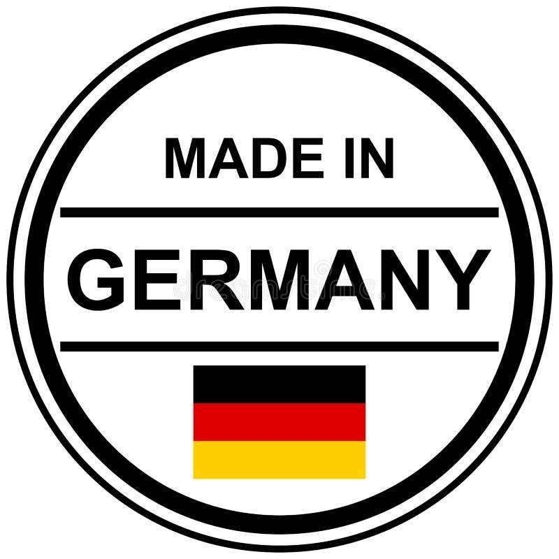 sello hecho en Alemania stock de ilustración