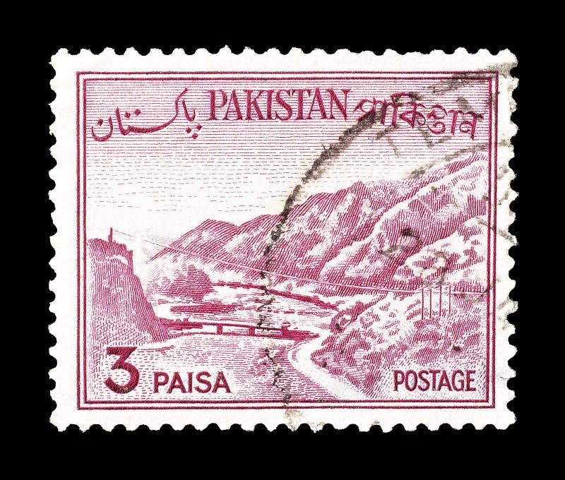 Sello impreso por Paquist?n foto de archivo