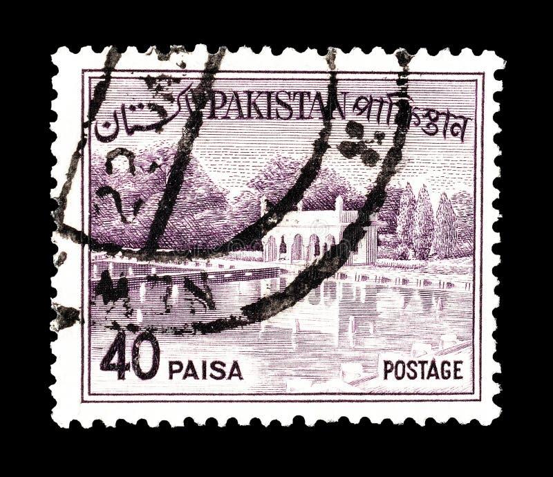 Sello impreso por Paquist?n imagen de archivo