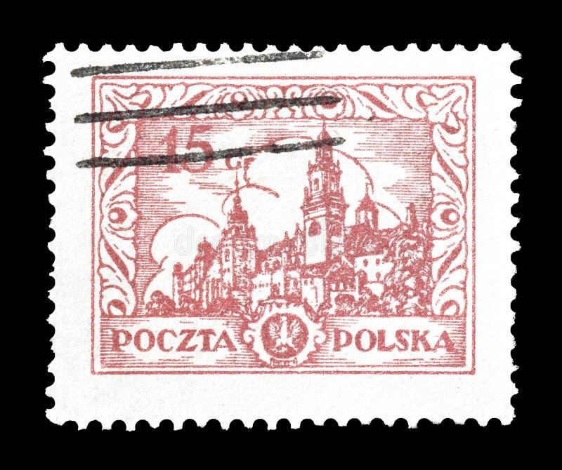 Sello impreso por Polonia foto de archivo