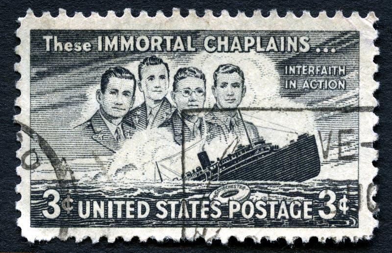 Sello inmortal de los estos E.E.U.U. de los capellanes imagen de archivo