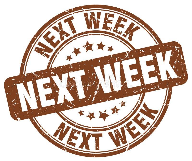 sello la semana próxima marrón ilustración del vector