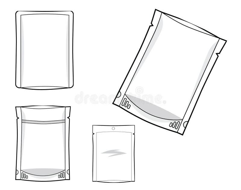 Sello lateral del bolso 3 del embalaje flexible y bolsa derecha libre illustration